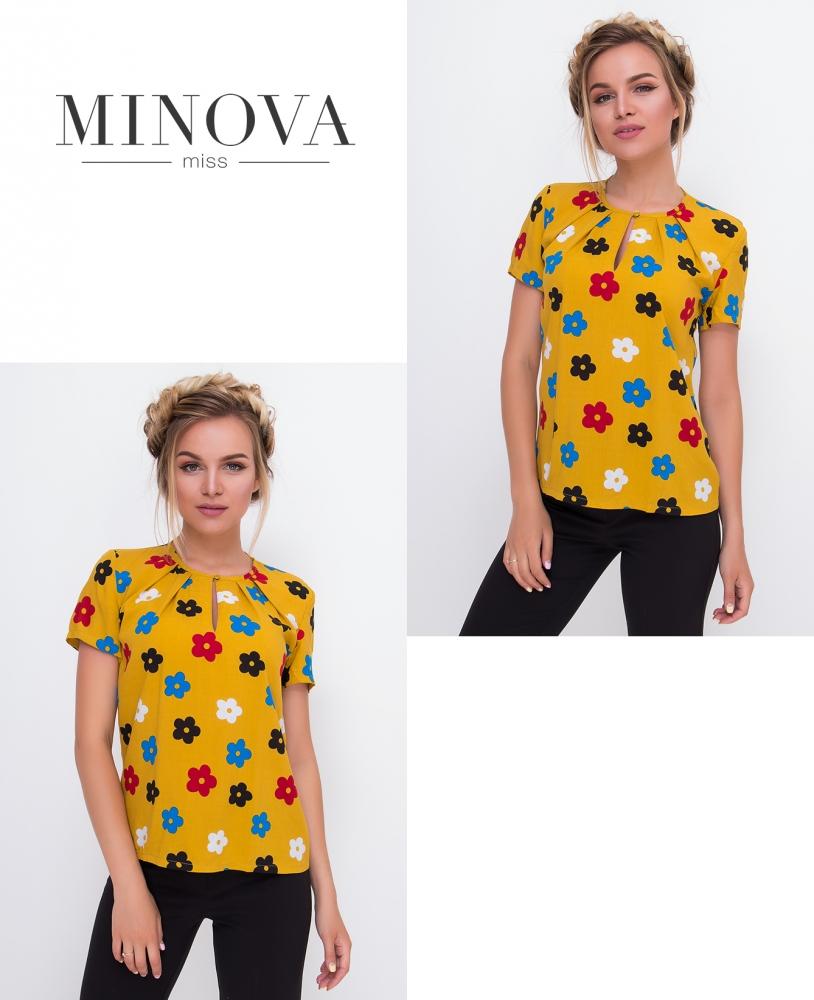 Блуза №437-горчица