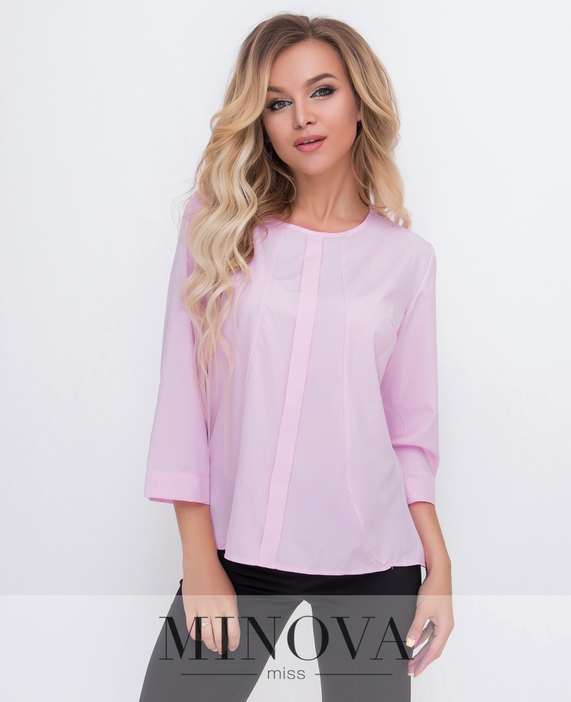 Блуза №1580-розовый