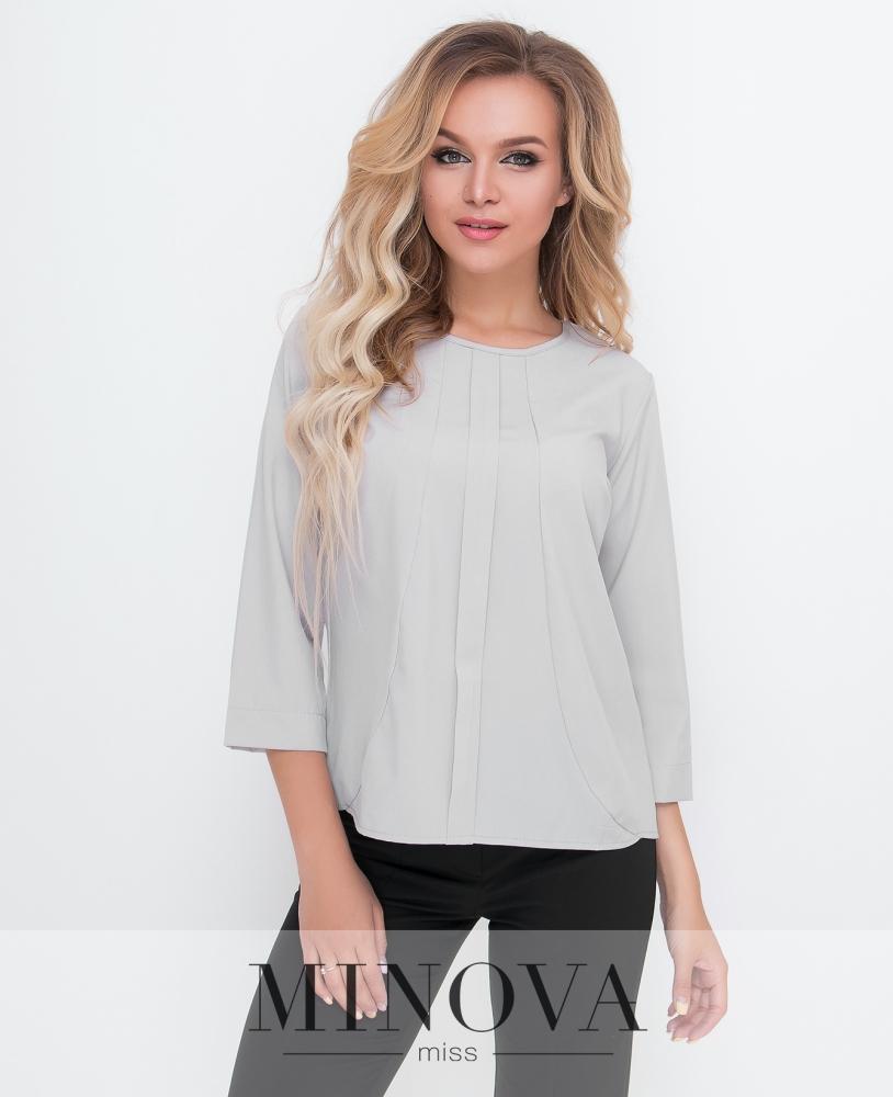 Блуза №1580-серый