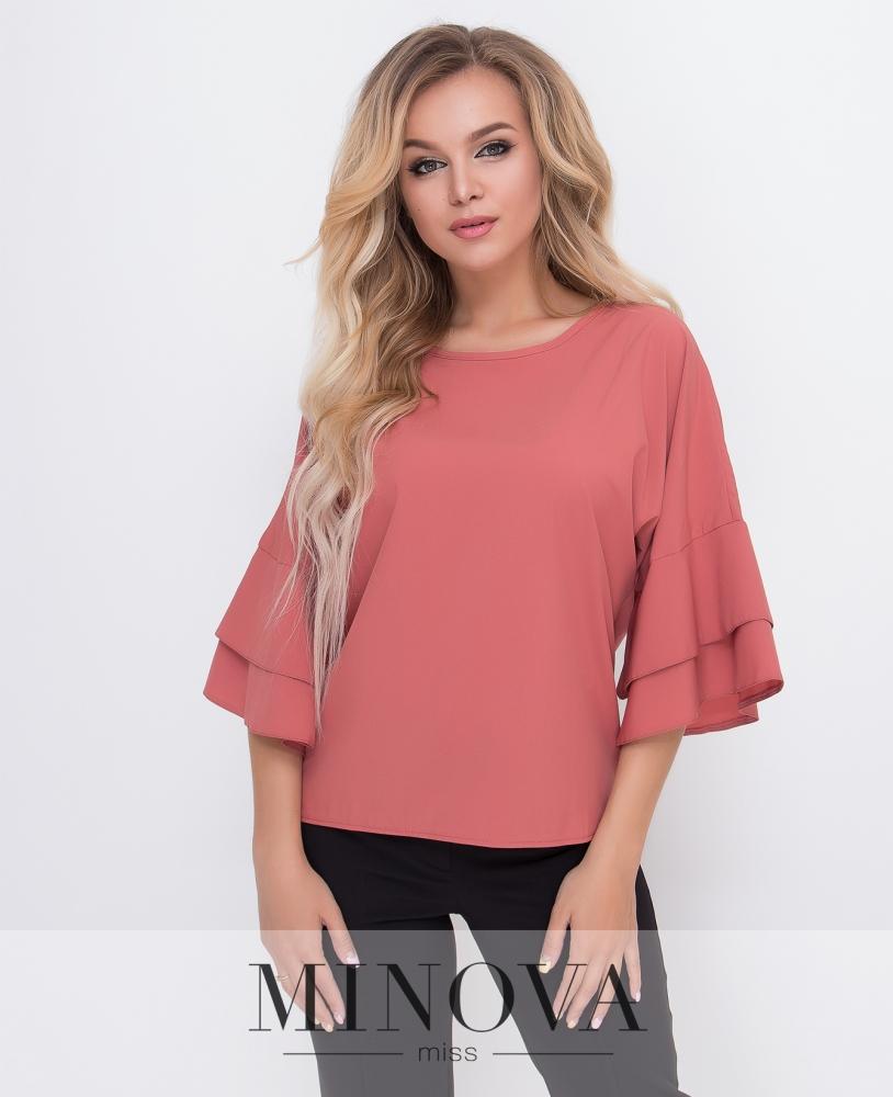 Блуза №1577-терракот