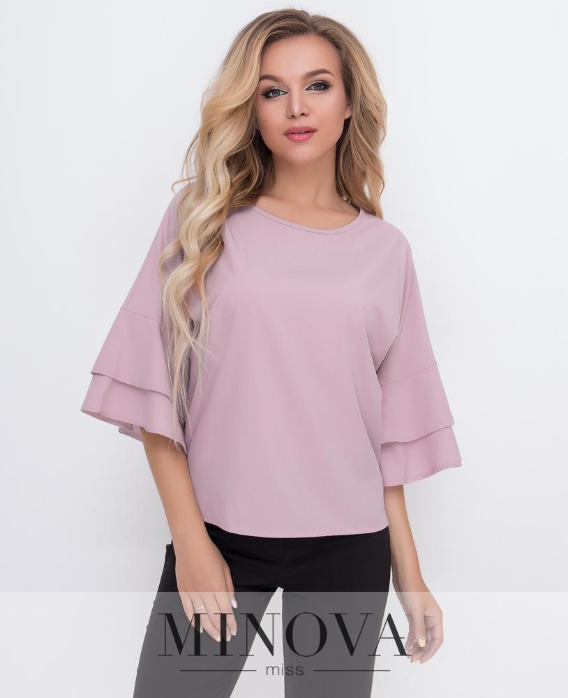 Блуза №1577-пудра