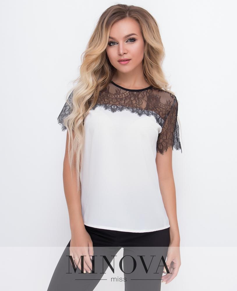Блуза №1573-молочный