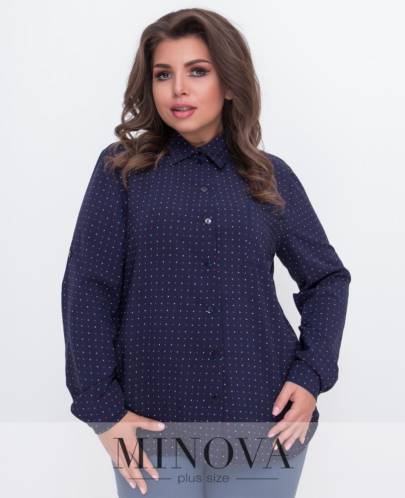 Рубашка №491-синий