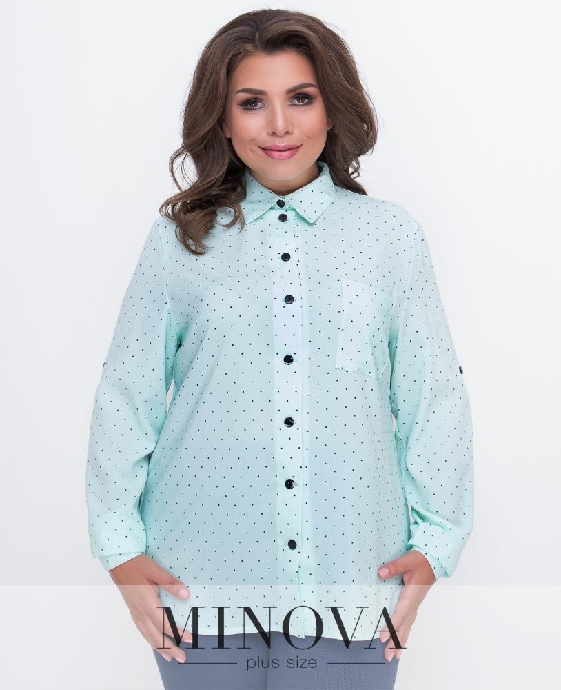 Рубашка №491-ментол