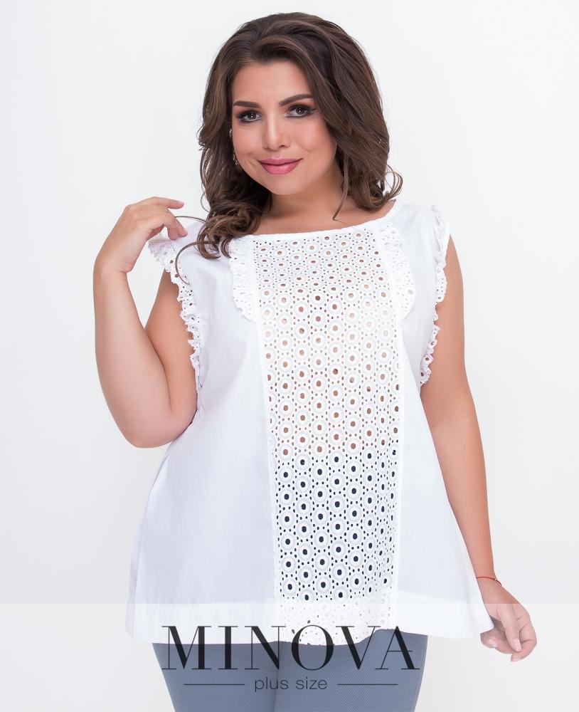 Блуза №3070.12Б-белый