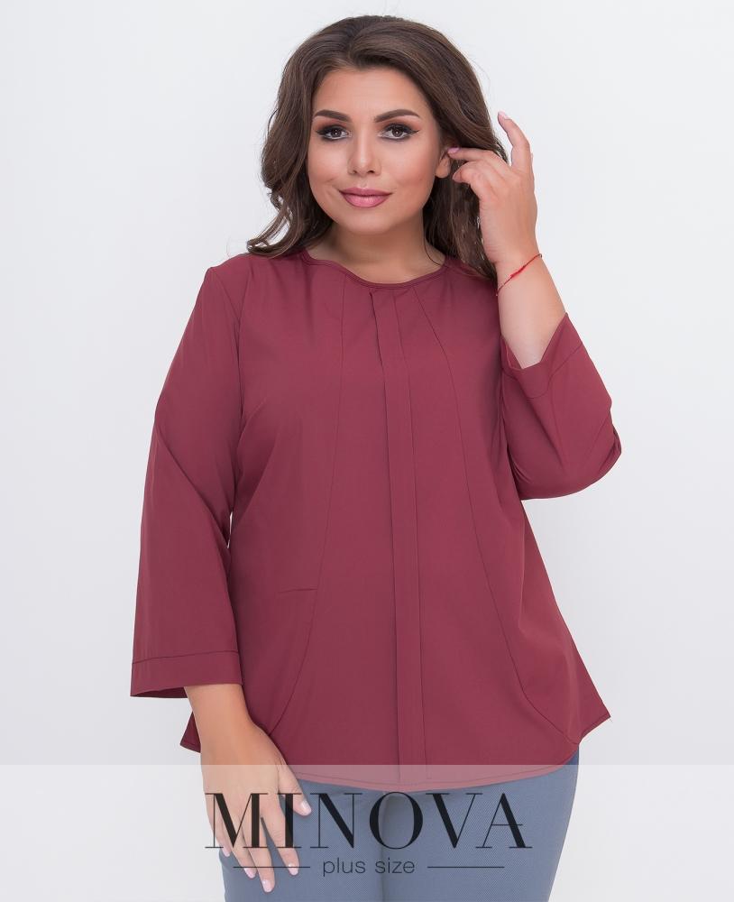 Блуза №1580Б-терракот