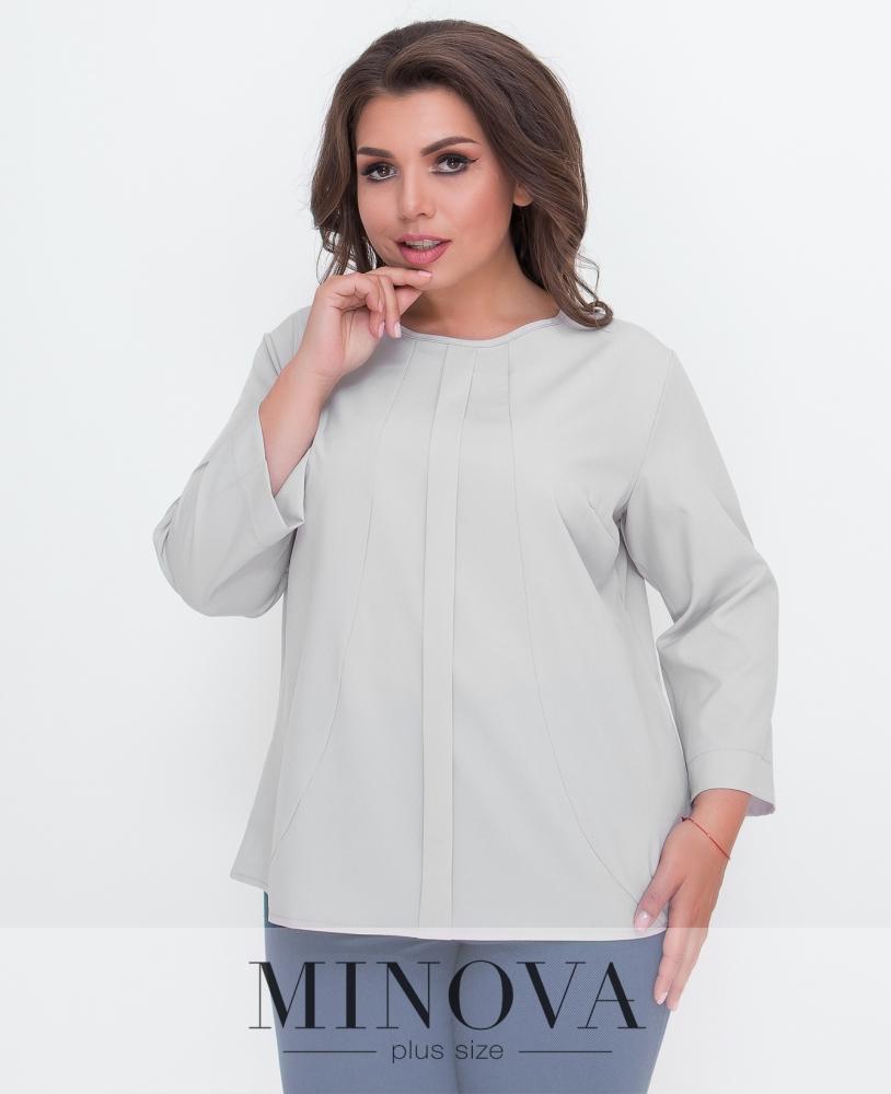 Блуза №1580Б-серый