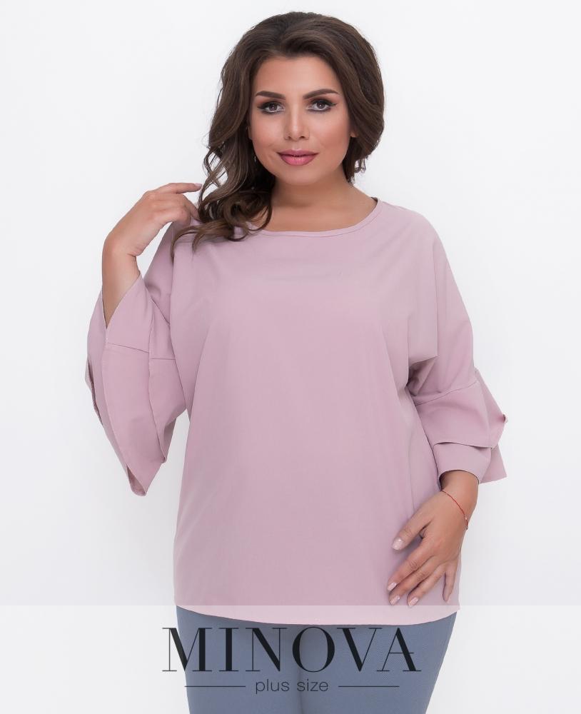 Блуза №1577Б-пудра