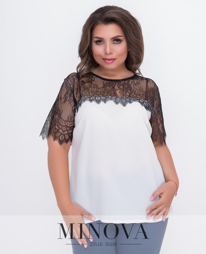 Блуза №1573Б-молочный