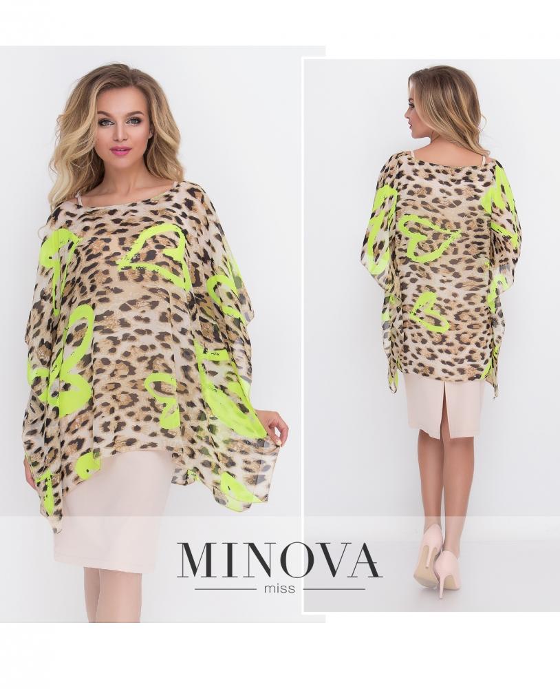 Платье 2-ка №436-лимонный (sale)