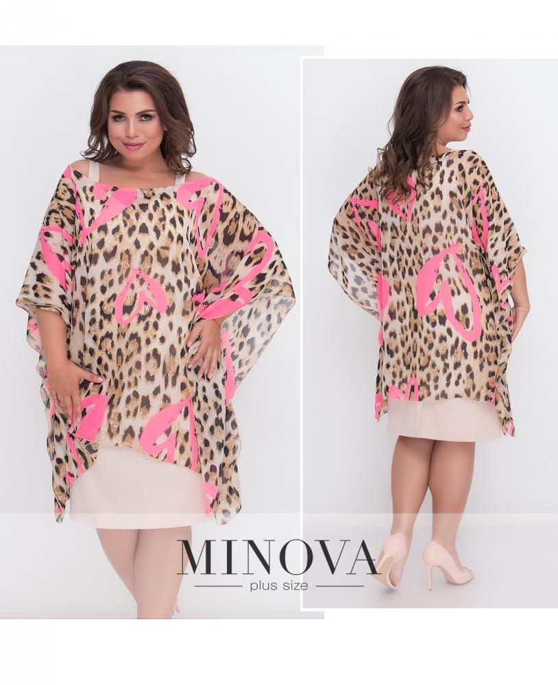 Платье 2-ка №436А-розовый (sale)