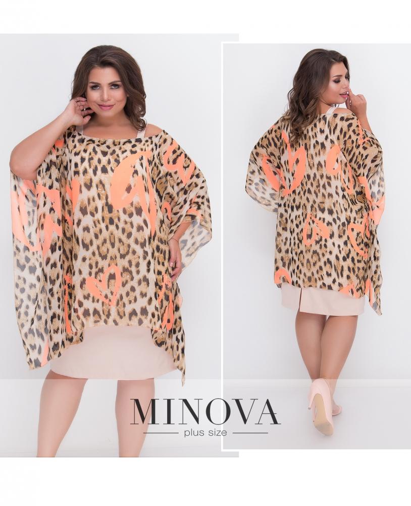 Платье 2-ка №436А-оранжевый (sale)