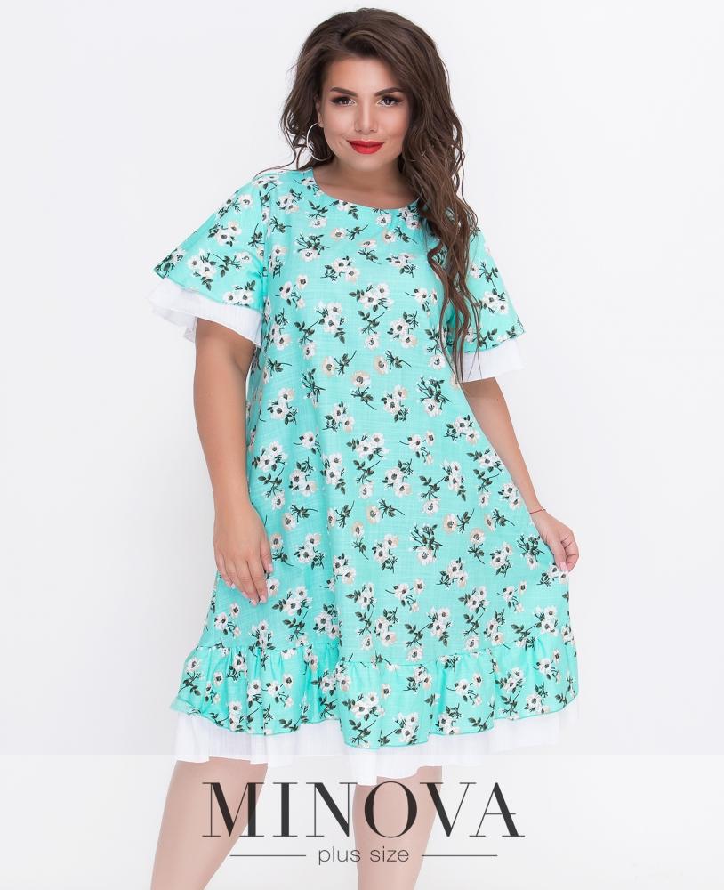 Платье №408Б-бирюза