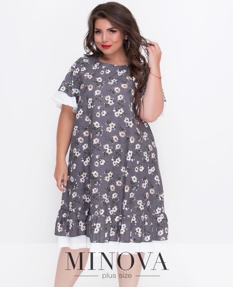 Платье №408Б-серый