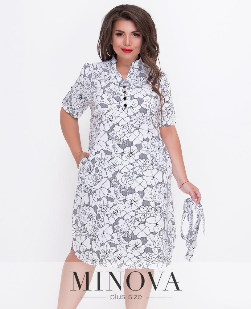 Платье №105-белый
