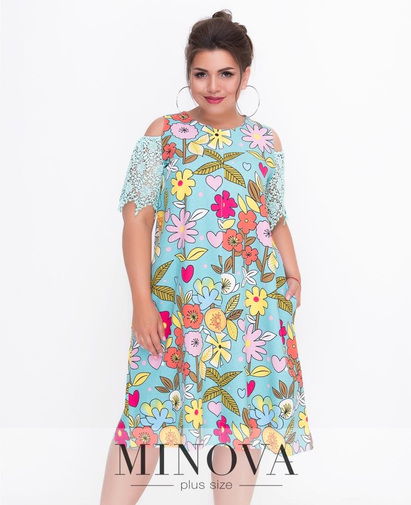 Платье №1435-бирюза