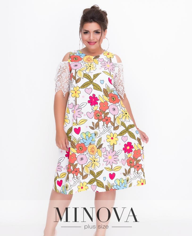 Платье №1435-белый