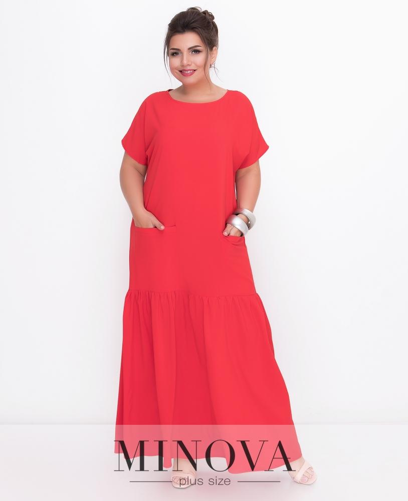 Платье №500-красный