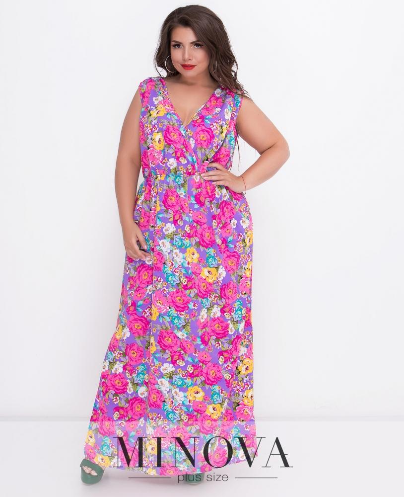 Платье №495-фиолет