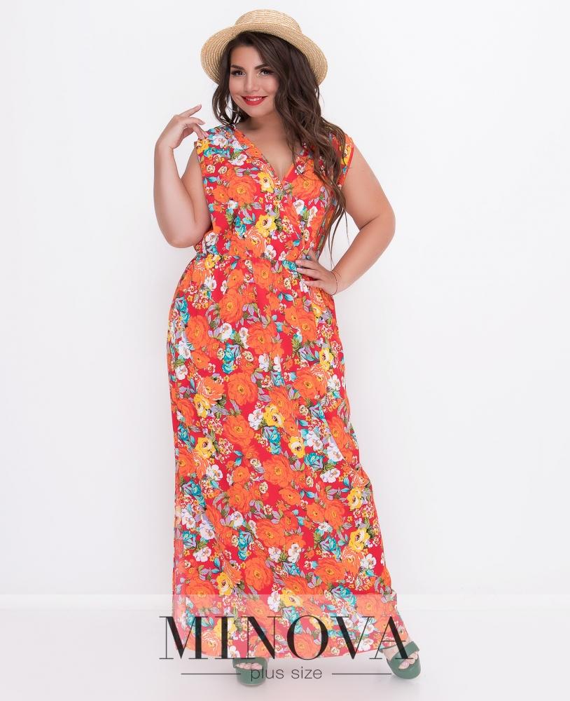 Платье №495-красный