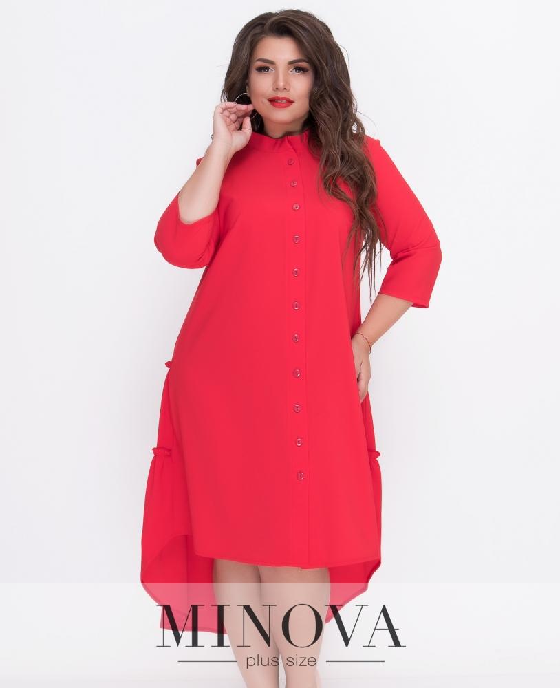 Платье №497-красный