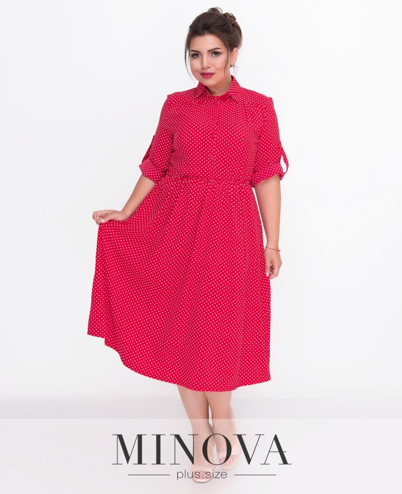 Платье №501-красный