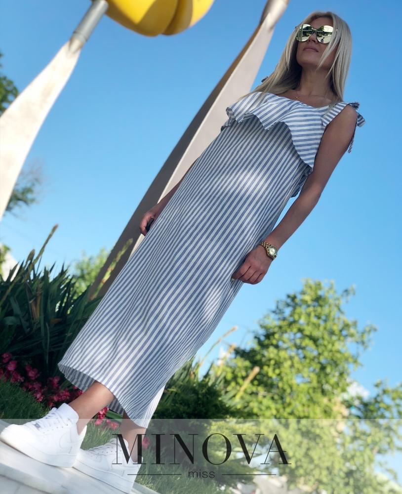 Платье №1194-синий
