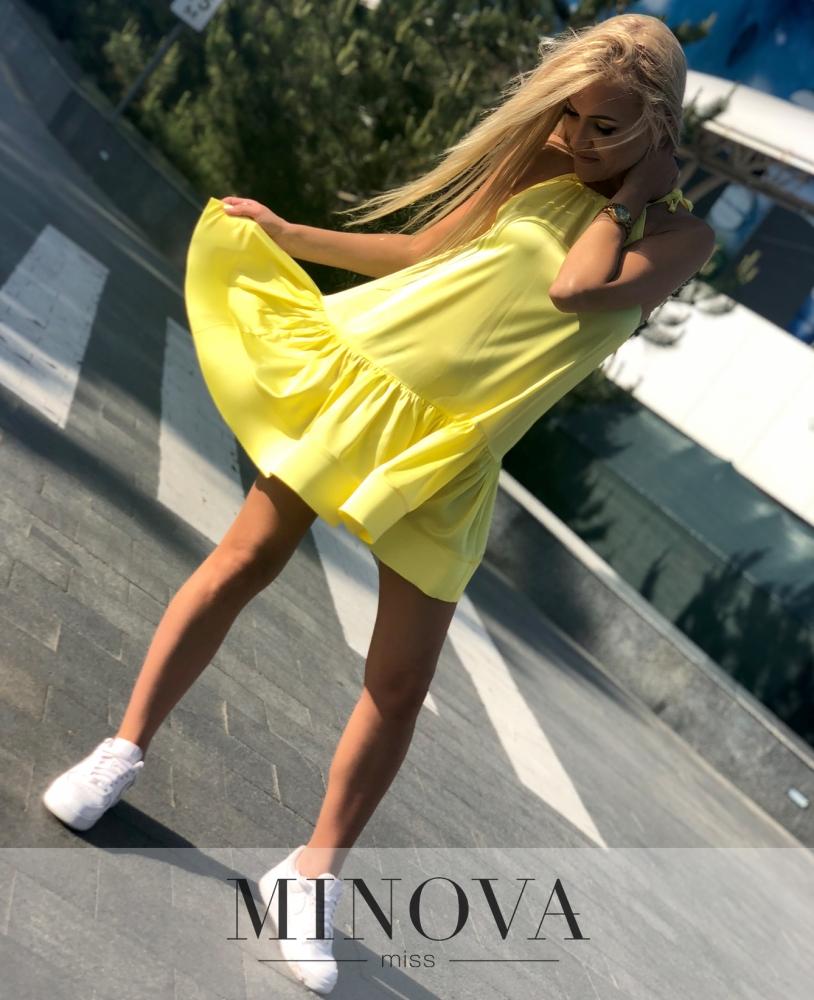 Платье №1101-желтый