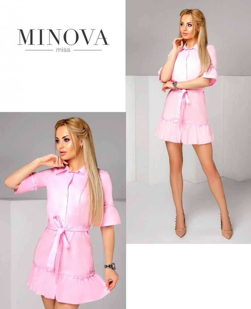 Платье №1164-розовый (sale)