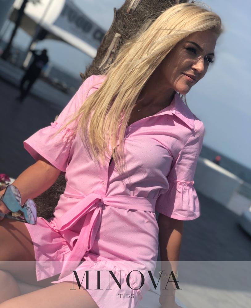 Платье №1164-розовый