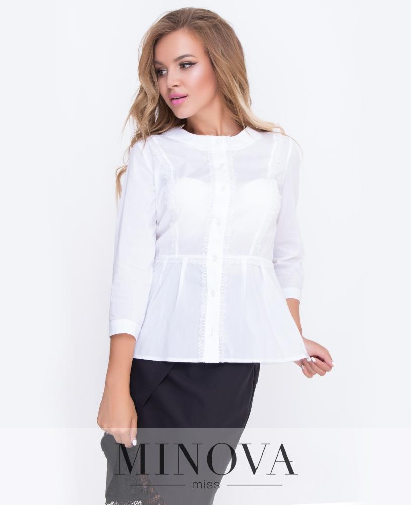 Блуза №4089-белый н