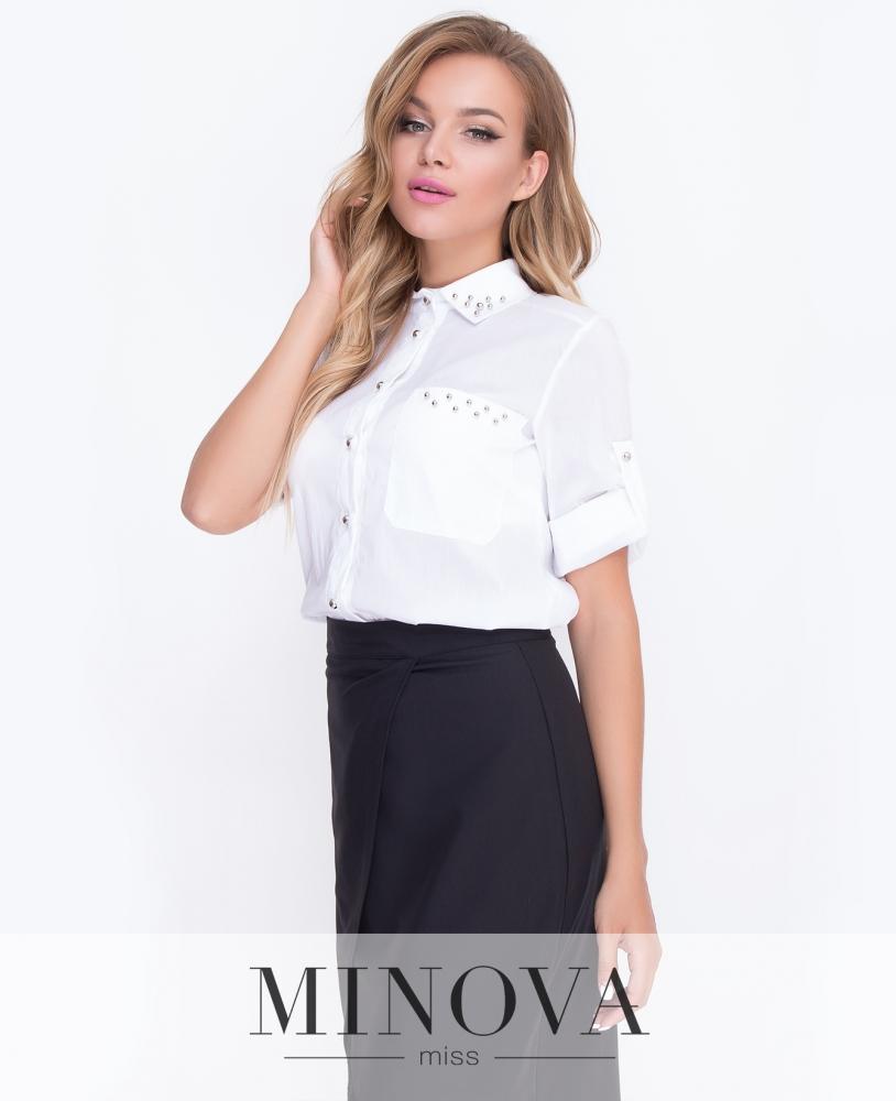 Блуза №4088-белый н