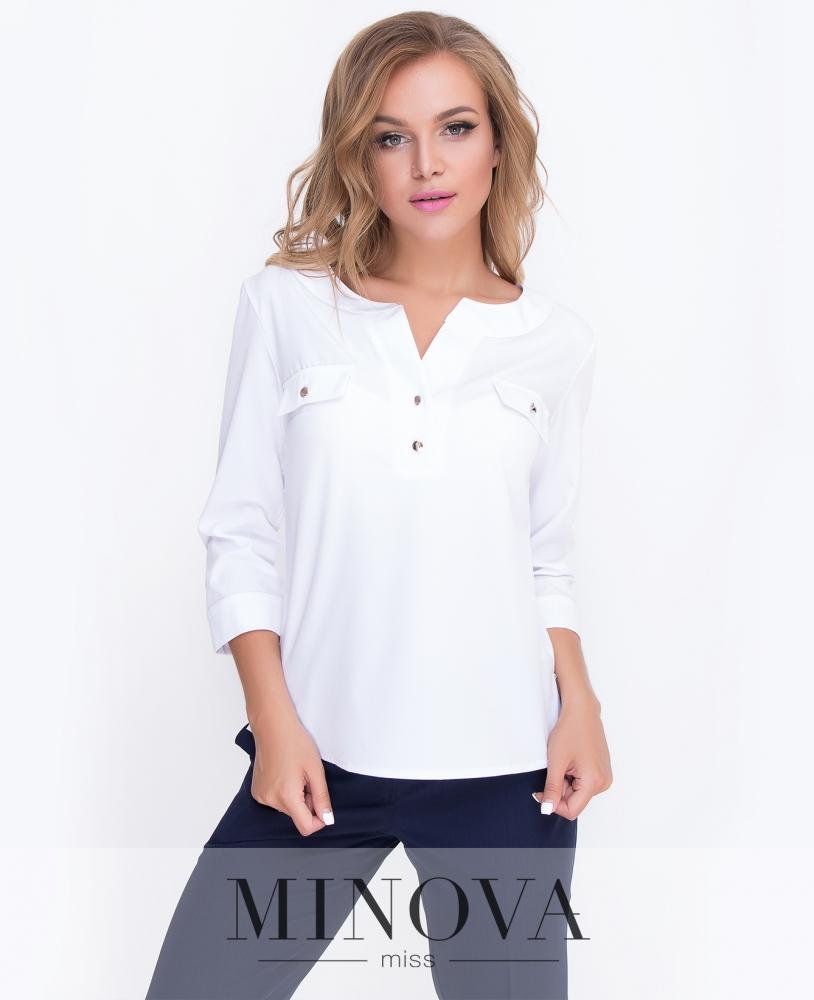 Блуза №4083-белый н