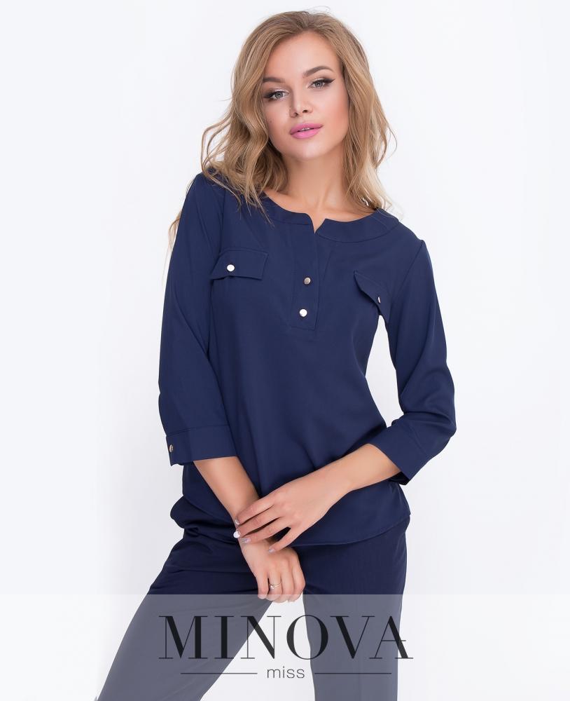 Блуза №4083-синий н