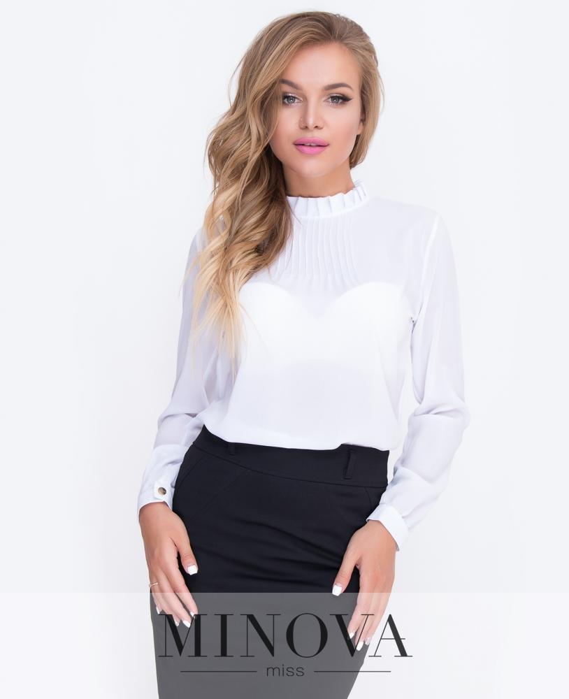 Блуза №205-молочный н