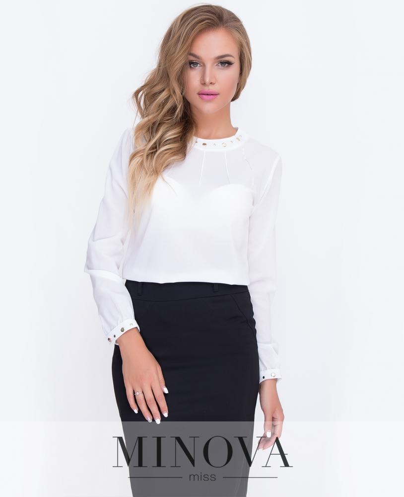 Блуза №230-молочный н