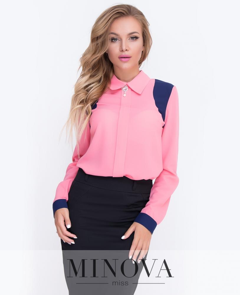 Блуза №200-коралл н