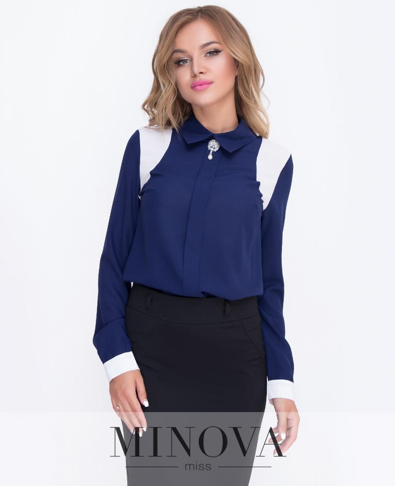 Блуза №200-синий н