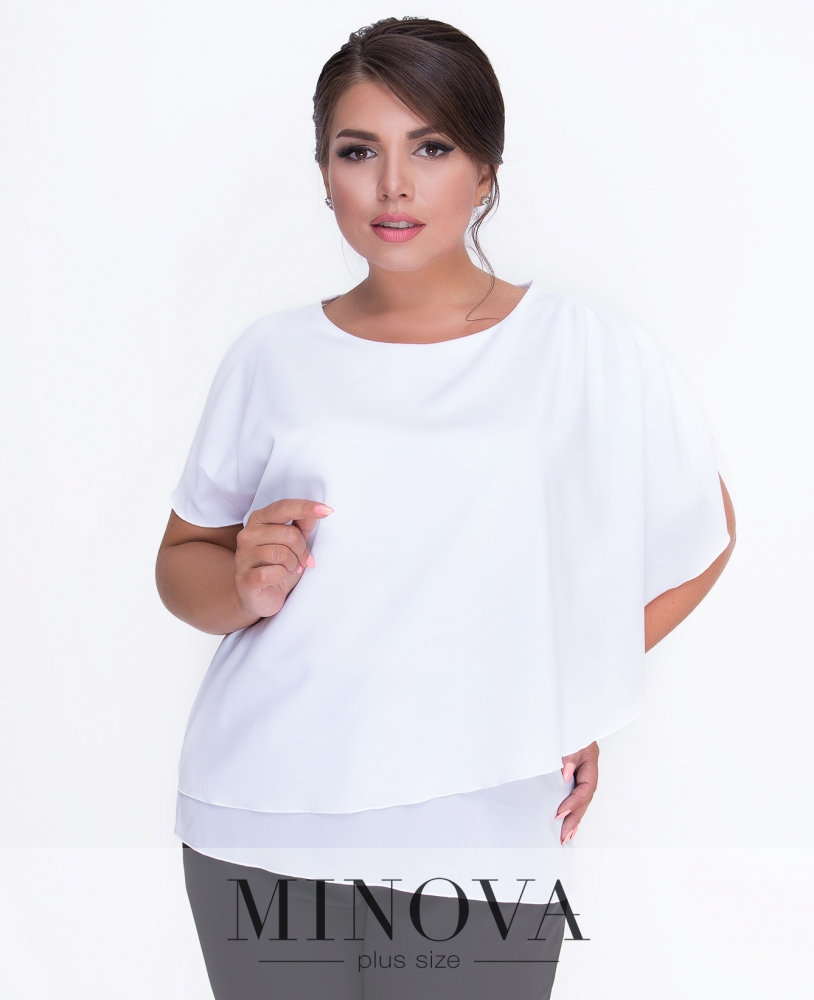Блуза №3076.18-белый н