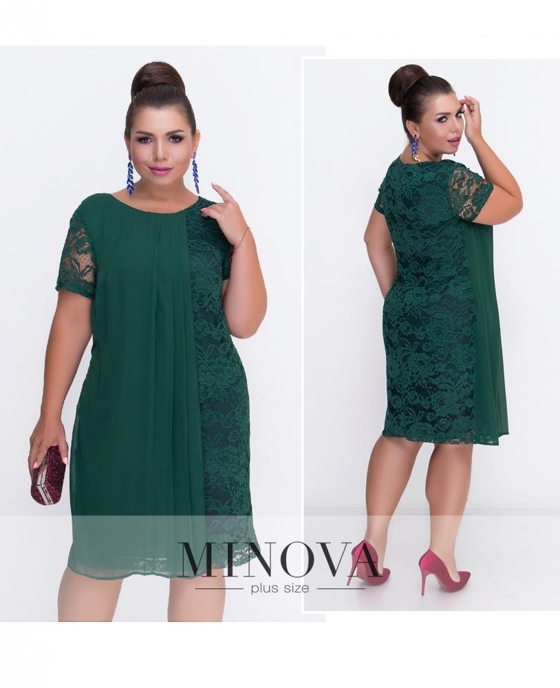 Платье №236-темно-зеленый (sale)