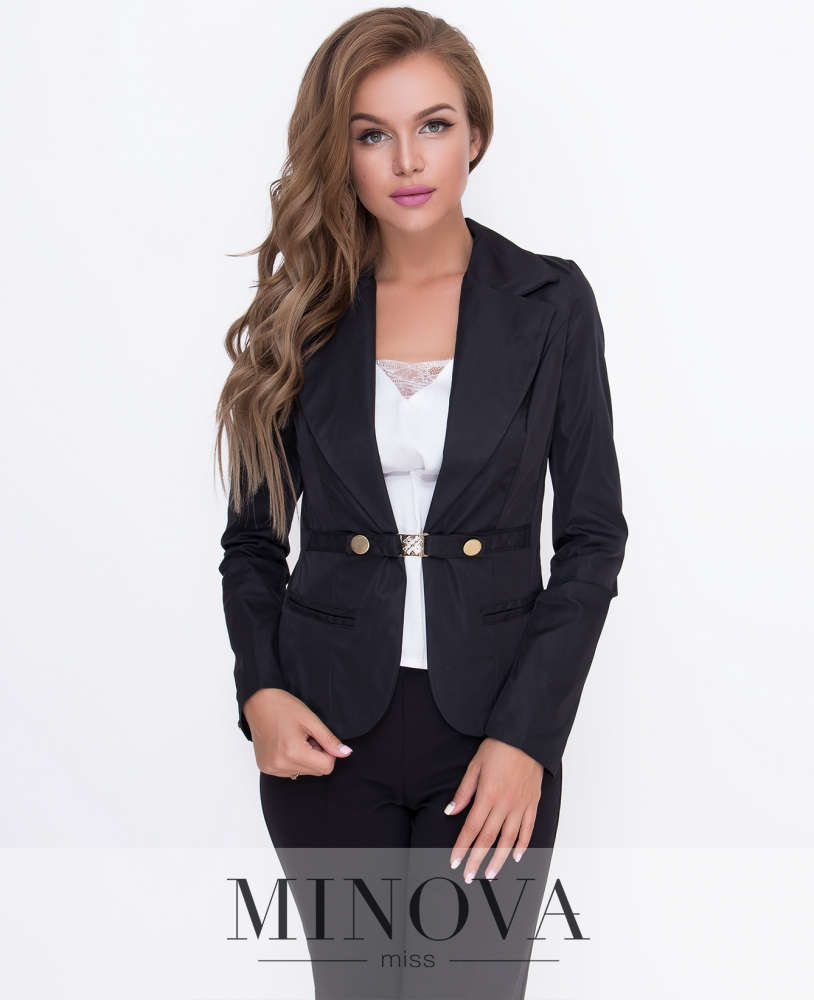 Пиджак №8522-черный