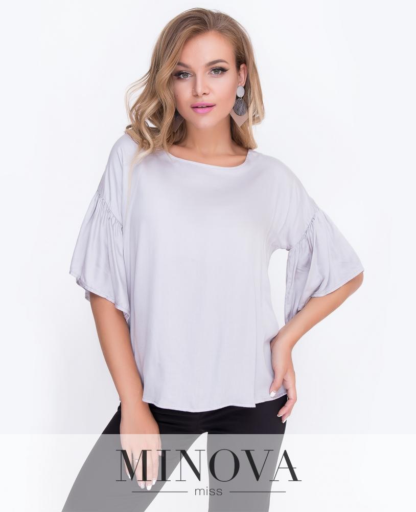 Блуза №449-серый