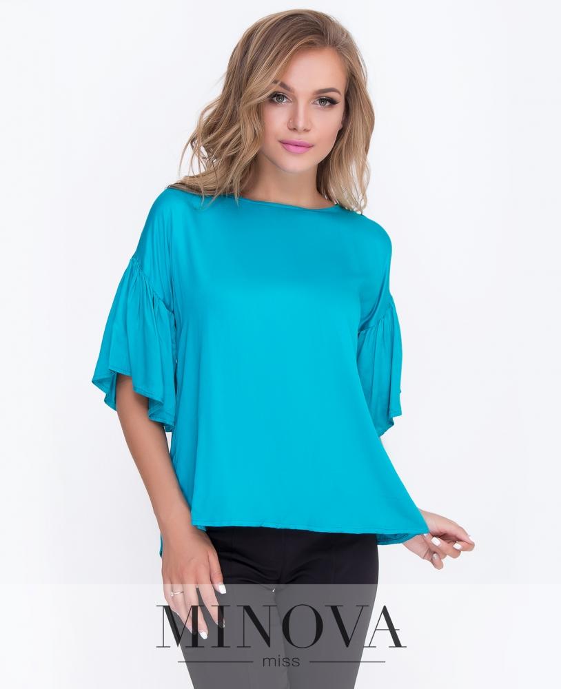 Блуза №449-бирюза