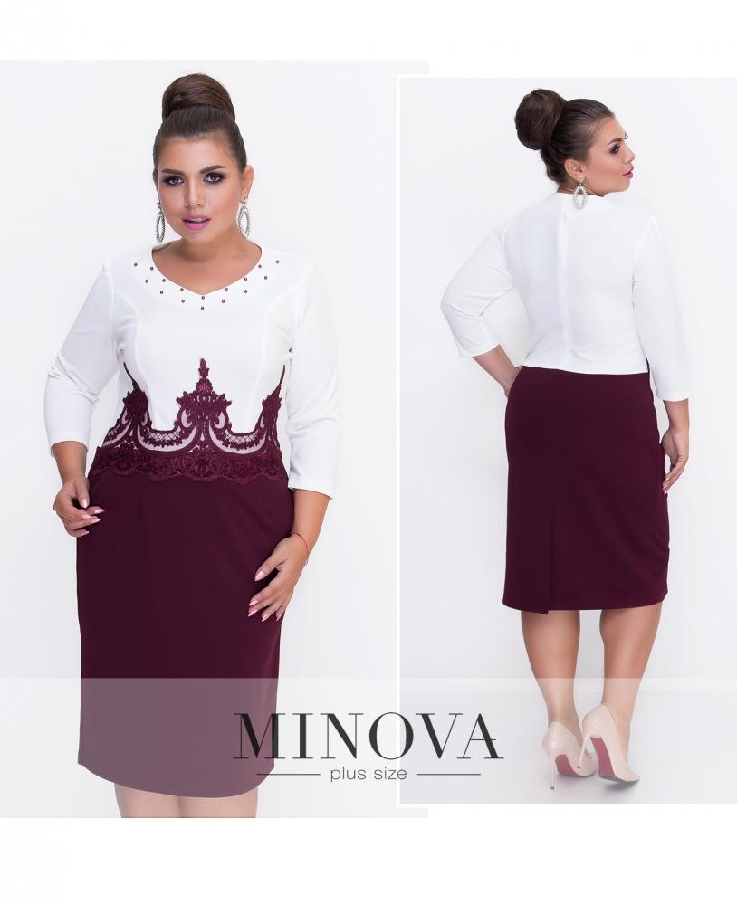 Платье №389-бордо (sale)