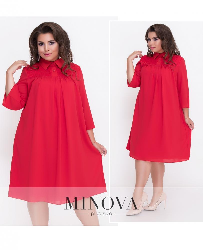 Платье №507-красный (sale)