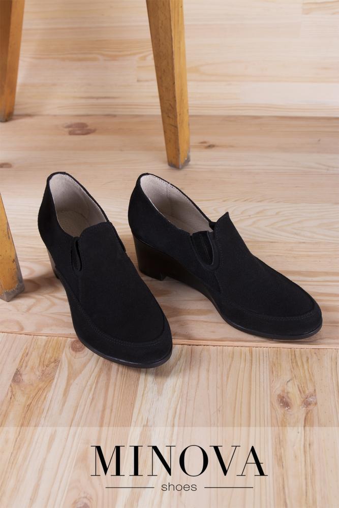 Туфли №530М-черный замш