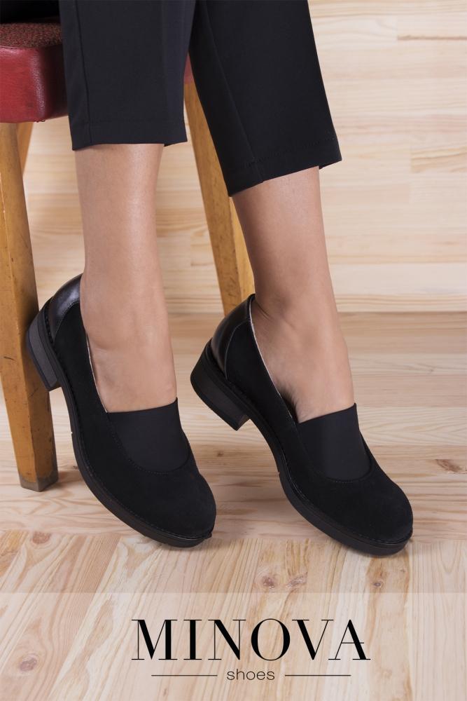 Туфли №192М-черный замш