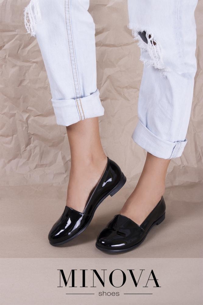 Туфли №1791М-черный лак