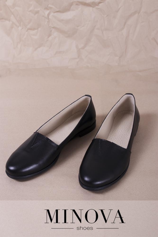 Туфли №1791М-черная кожа