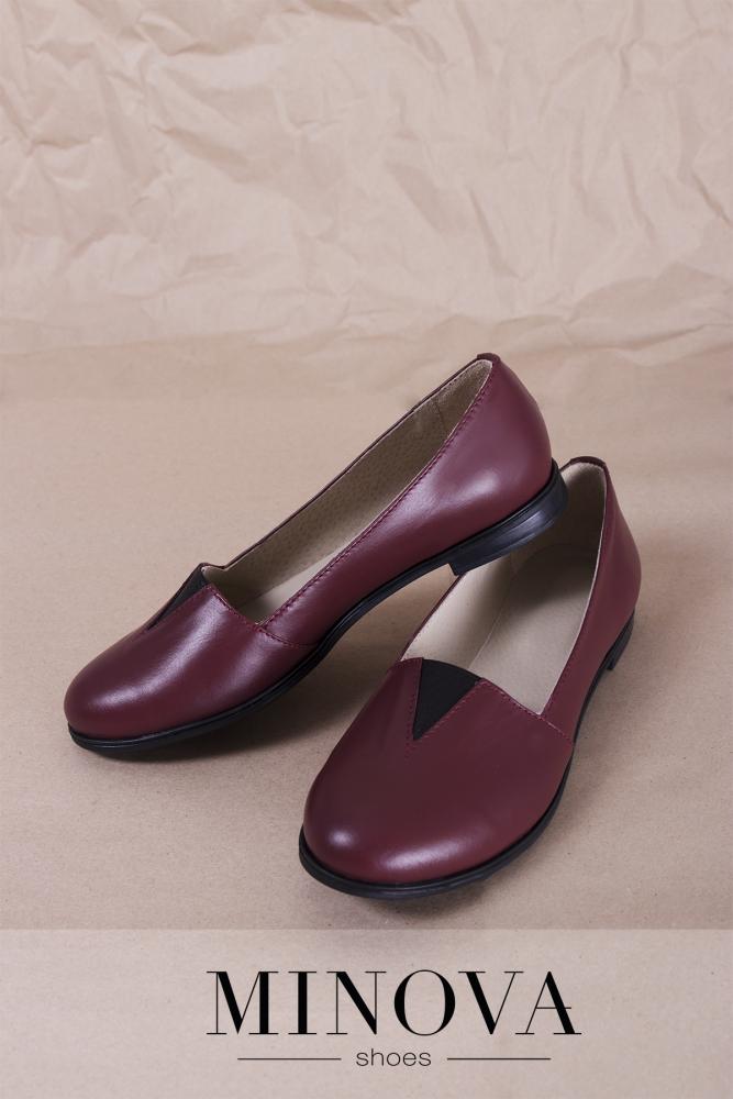 Туфли №1791М-бордо кожа